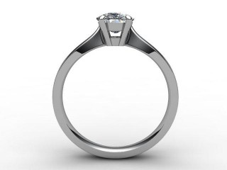 Certificated Cushion-Cut Diamond Solitaire Engagement Ring in Palladium - 6