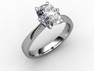 Certificated Cushion-Cut Diamond Solitaire Engagement Ring in Palladium-05-6600-0007