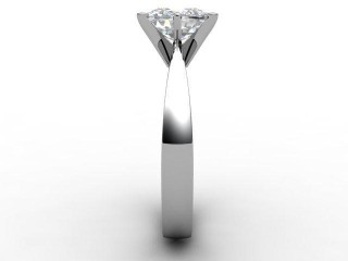 Certificated Cushion-Cut Diamond Solitaire Engagement Ring in Palladium - 6