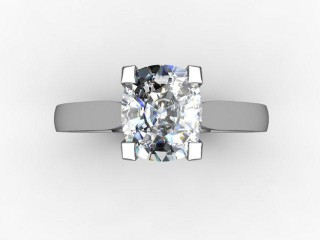 Certificated Cushion-Cut Diamond Solitaire Engagement Ring in Palladium - 12