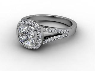Certificated Cushion-Cut Diamond in Palladium-05-6600-8903