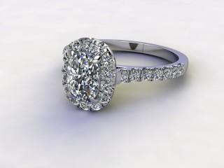 Certificated Cushion-Cut Diamond in Palladium-05-6600-8927