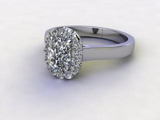 Certificated Cushion-Cut Diamond in Palladium-05-6600-8942