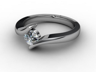 Certificated Cushion-Cut Diamond Solitaire Engagement Ring in Palladium-05-6608-1909