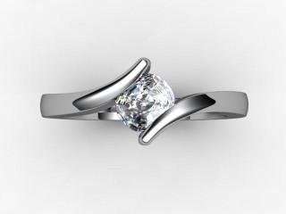 Certificated Cushion-Cut Diamond Solitaire Engagement Ring in Palladium - 9