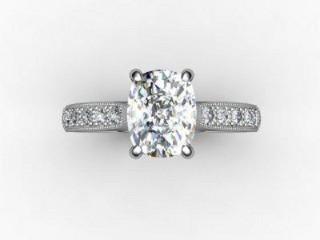 Certificated Cushion-Cut Diamond in Palladium - 9