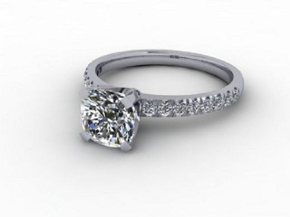Certificated Cushion-Cut Diamond in Palladium