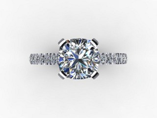 Certificated Cushion-Cut Diamond in Palladium - 9