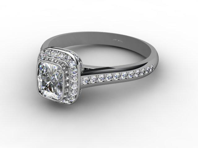 Certificated Cushion-Cut Diamond in Palladium - Main Picture