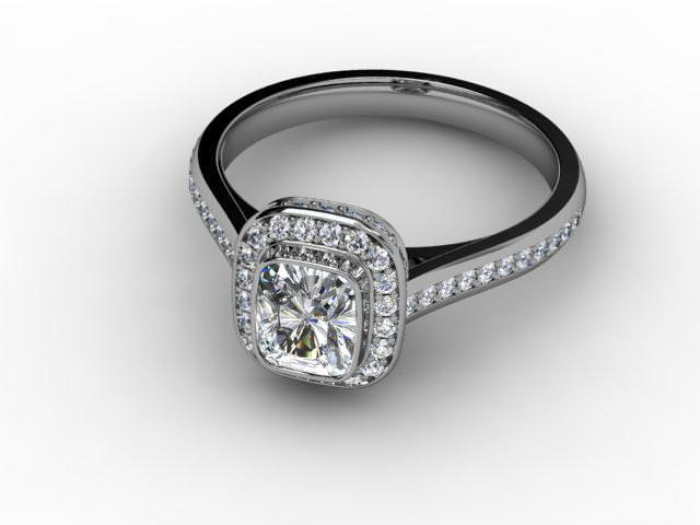 Certificated Cushion-Cut Diamond in Palladium