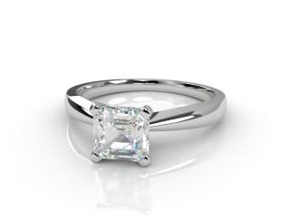 Certificated Asscher-Cut Diamond Solitaire Engagement Ring in Platinum-06-0100-0001