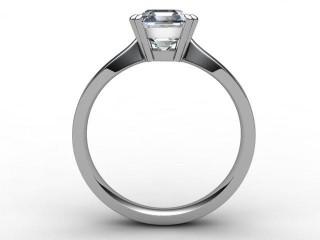 Certificated Asscher-Cut Diamond Solitaire Engagement Ring in Platinum - 3