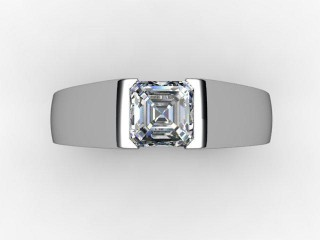 Certificated Asscher-Cut Diamond Solitaire Engagement Ring in Platinum - 12