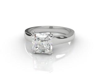Certificated Asscher-Cut Diamond Solitaire Engagement Ring in Platinum-06-0100-6057