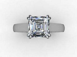 Certificated Asscher-Cut Diamond Solitaire Engagement Ring in Platinum - 9