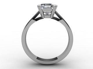 Certificated Asscher-Cut Diamond Solitaire Engagement Ring in Platinum - 3