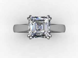 Certificated Asscher-Cut Diamond Solitaire Engagement Ring in Platinum - 12