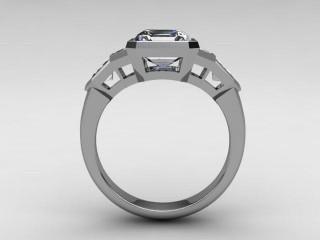 Certificated Asscher-Cut Diamond in Platinum - 6
