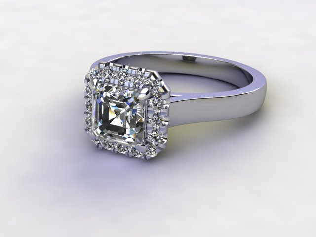 Certificated Asscher-Cut Diamond in Platinum - Main Picture