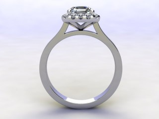 Certificated Asscher-Cut Diamond in Platinum - 3