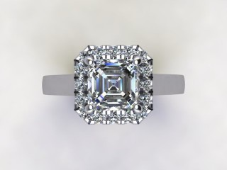 Certificated Asscher-Cut Diamond in Platinum - 9