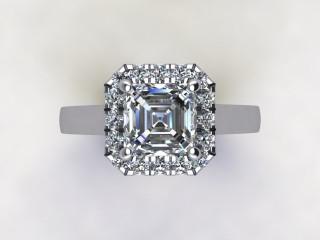 Certificated Asscher-Cut Diamond in Platinum - 9