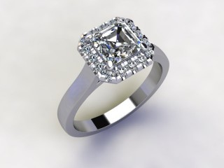 Certificated Asscher-Cut Diamond in Platinum - 12