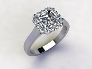 Certificated Asscher-Cut Diamond in Platinum - 12