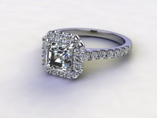 Certificated Asscher-Cut Diamond in Platinum