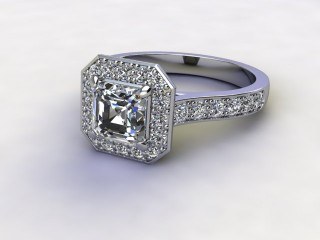 Certificated Asscher-Cut Diamond in Platinum-06-0100-8933