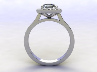 Certificated Asscher-Cut Diamond in Platinum - 3