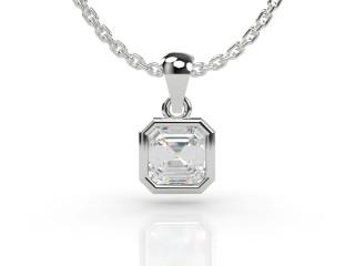 Certified Asscher-Cut Diamond Pendant -06-01001