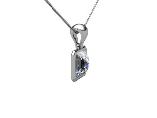 Certified Asscher-Cut Diamond Pendant  - 6