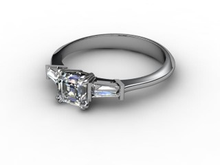 Certificated Asscher-Cut Diamond in Platinum-06-0102-0028