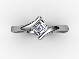 Certificated Asscher-Cut Diamond Solitaire Engagement Ring in Platinum - 9