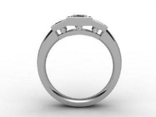 Trilogy Platinum Asscher-Cut Diamond - 6