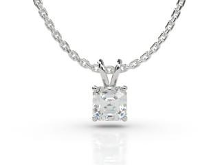 Certified Asscher-Cut Diamond Pendant