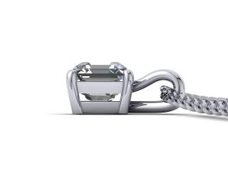 Certified Asscher-Cut Diamond Pendant  - 3