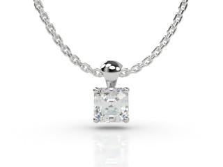 Certified Asscher-Cut Diamond Pendant -06-01913