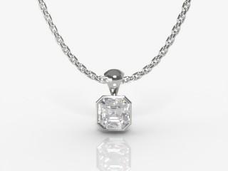 Certified Asscher-Cut Diamond Pendant -06-01914