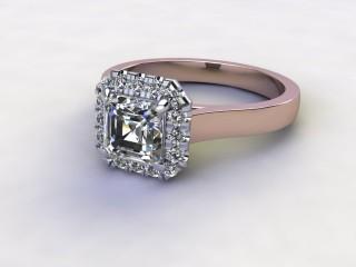 Certificated Asscher-Cut Diamond in 18ct. Rose Gold-06-0400-8930