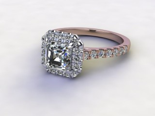 Certificated Asscher-Cut Diamond in 18ct. Rose Gold-06-0400-8931