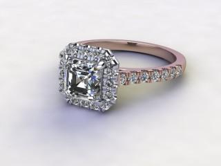 Certificated Asscher-Cut Diamond in 18ct. Rose Gold-06-0400-8931