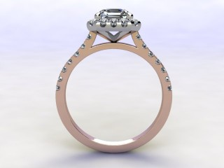 Certificated Asscher-Cut Diamond in 18ct. Rose Gold - 3