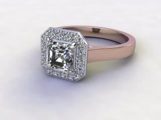 Certificated Asscher-Cut Diamond in 18ct. Rose Gold-06-0400-8932