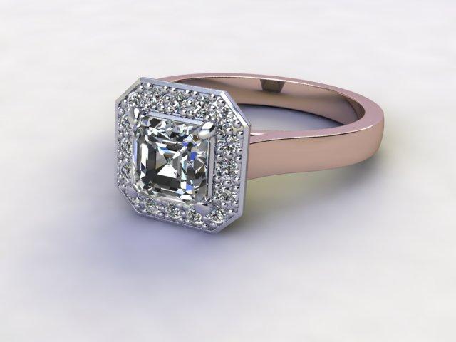 Certificated Asscher-Cut Diamond in 18ct. Rose Gold
