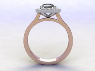 Certificated Asscher-Cut Diamond in 18ct. Rose Gold - 6