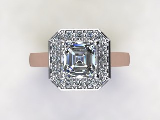 Certificated Asscher-Cut Diamond in 18ct. Rose Gold - 12