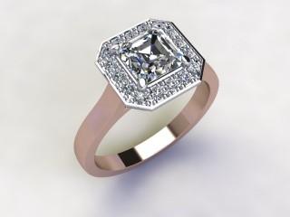 Certificated Asscher-Cut Diamond in 18ct. Rose Gold - 15