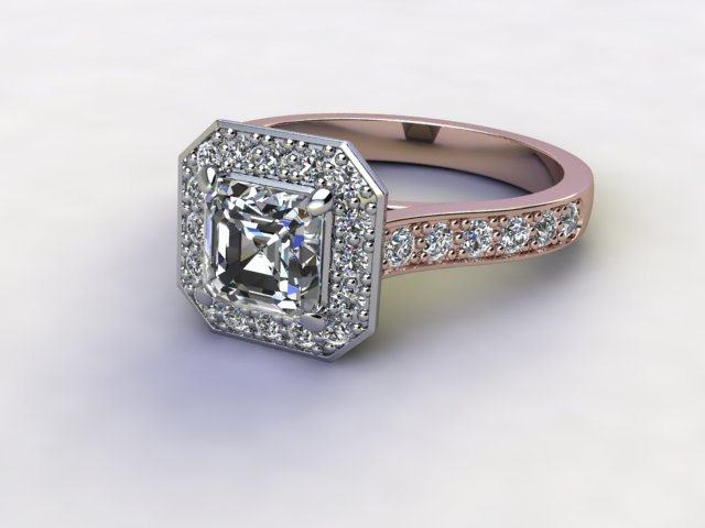 Certificated Asscher-Cut Diamond in 18ct. Rose Gold